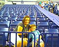 Caiden and I in the stands!